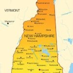 Vector color map of New Hampshire state. Usa